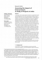 Assessing the Impact of E-Government:A Study of Projects in India