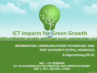 ICT impacts for Green Growth