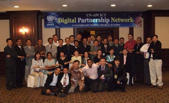 Participants of the Second Regional e-Government Training Workshop at the official soft launch of UN-APCICT's Digital Partnership Network.