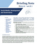 Briefing note Social Media Development Governance
